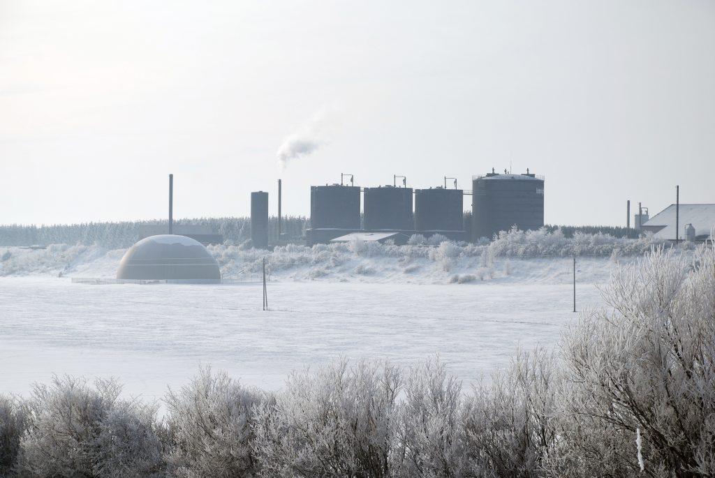 Lemvig Biogas, vinterbillede