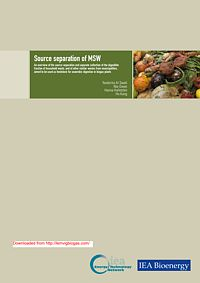 An overview of the source separation and separate collection of the digestible fraction of household waste, and of other similar wastes from municipalities