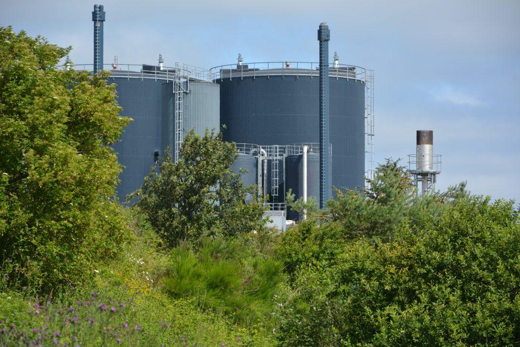 Lemvig Biogasanlæg set fra sydøst, juli 2019