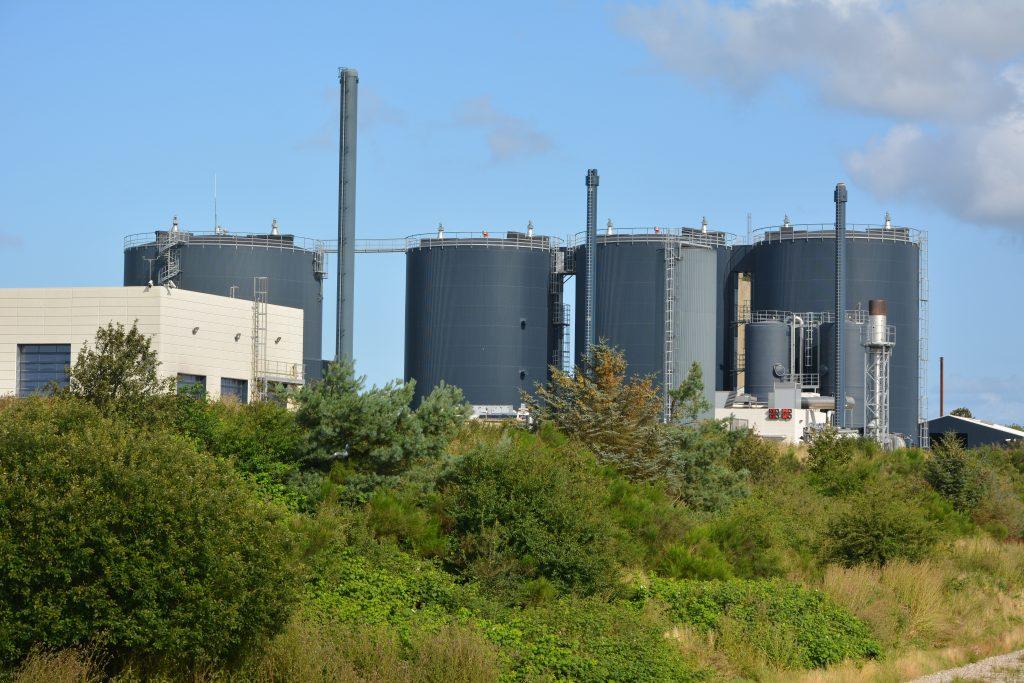 Lemvig biogasanlæg set fra sydøst august 2019