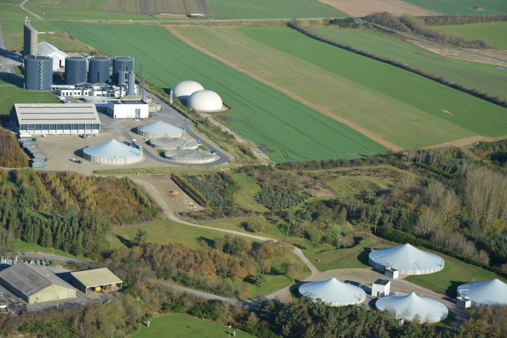 Luftfoto Lemvig biogas 29.10.2019