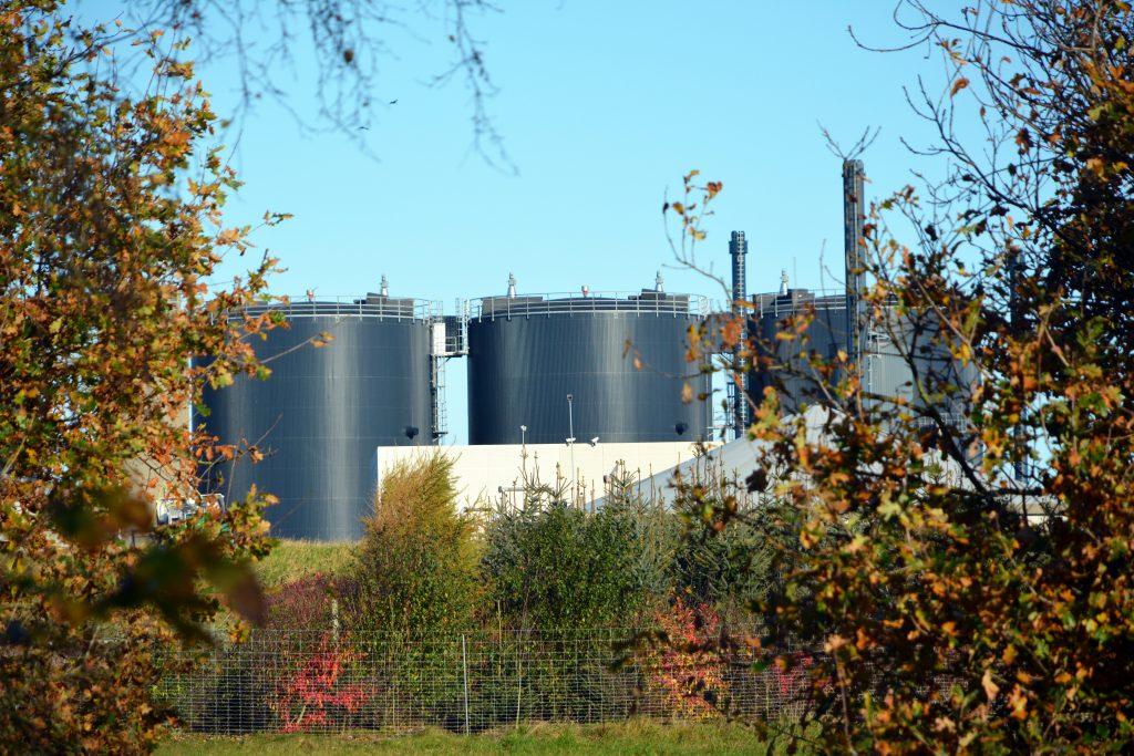 Lemvig biogas i efterårsfarver, nov. 2019